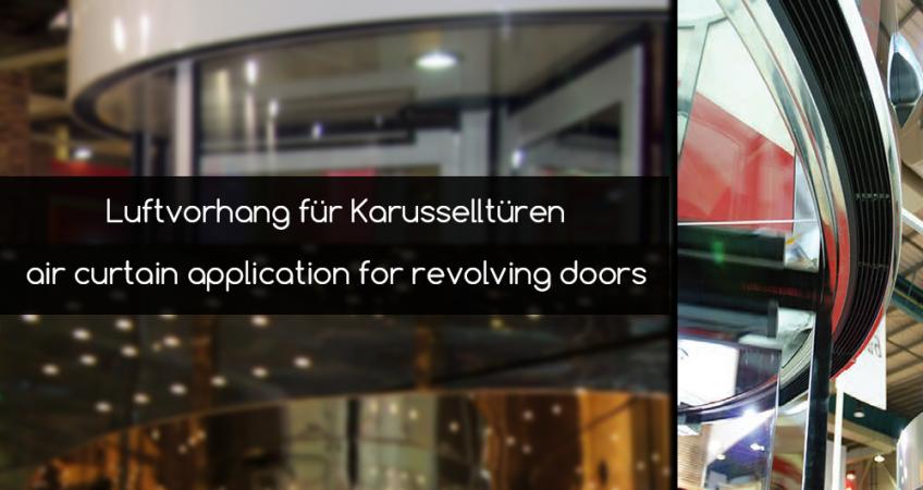 revolving door system air curtain